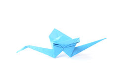 Origami crane isolated over white Stock Photography