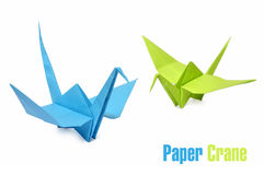 Origami cranes Royalty Free Stock Image