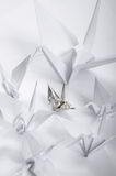 Origami cranes Royalty Free Stock Photos