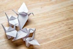 Origami cranes Stock Photography