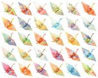 Origami cranes il reticolo fotografia stock libera da diritti