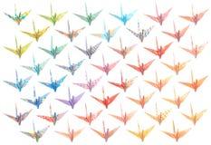 Origami cranes il reticolo immagine stock libera da diritti
