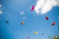 Origami cranes - Stock Image Stock Image