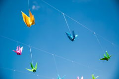 Origami cranes - Stock Image Royalty Free Stock Photography