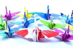 Origami cranes Stock Photos