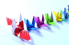 Origami cranes Royalty Free Stock Photography