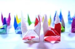 Origami cranes Royalty Free Stock Photos