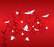 Origami cranes wallpaper Stock Photo