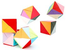 Origami cube Royalty Free Stock Images