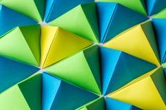 Origami czworościanów tło Obraz Stock