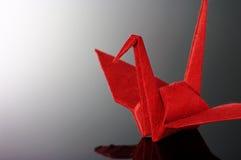 origami dźwigowa czerwień Obrazy Stock