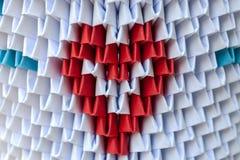 Origami 3d avec le coeur Photos libres de droits