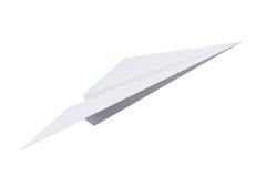 Origami d'avion de papier d'isolement sur le fond blanc renderin 3D Image libre de droits