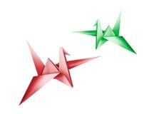 Origami 3d geef terug Stock Foto's