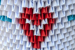Origami 3d met hart Royalty-vrije Stock Foto's