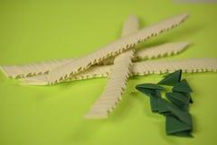 origami 3D nella fabbricazione Immagini Stock Libere da Diritti