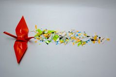 Origami d'oiseau photos stock