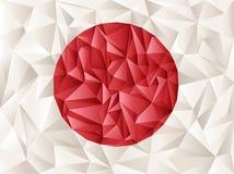 Origami da bandeira de Japão Fotografia de Stock