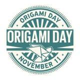 Origami Day, November 11. Rubber stamp, vector Illustration vector illustration