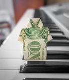 Origami de billet d'un dollar Photo stock