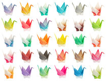 origami de diagramme d'oiseaux Photos stock