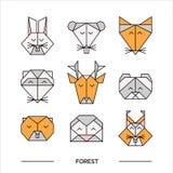 Origami 11 de forêt d'animaux Photographie stock libre de droits