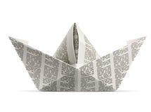 Origami de papel do navio Imagem de Stock
