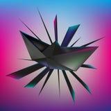 Origami de papel do navio ilustração royalty free
