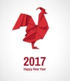 Origami del gallo Immagini Stock Libere da Diritti