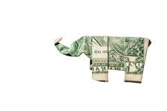Origami dell'elefante immagini stock libere da diritti