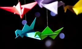 Origami dell'uccello Immagini Stock Libere da Diritti