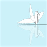 Origami dell'uccello Fotografia Stock Libera da Diritti