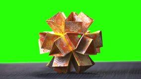 Origami della palla del fiore di origami stock footage