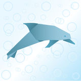 Origami Delphin Lizenzfreies Stockbild