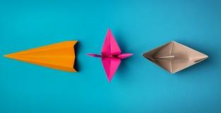 Origami des farbigen Papiers Lizenzfreie Stockbilder