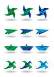 Origami design elements Stock Photography