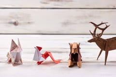 Origami dierlijke modellen Stock Fotografie