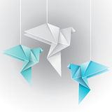 Origami different color dove Royalty Free Stock Photography