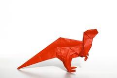 Origami dinosaur Stock Image