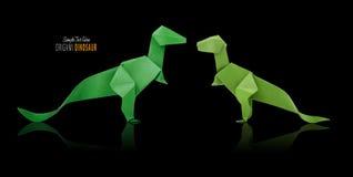Origami dinosaur on black Stock Photography