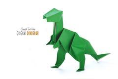 Origami dinosaur na bielu Obraz Stock