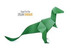 Origami dinosaur na bielu Obraz Royalty Free