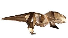 Origami dinosaur T-REX odizolowywający na bielu Obraz Royalty Free