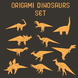 Origami dinosaurs Royalty Free Stock Images