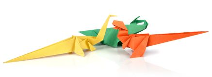 Origami dinosaurus Lizenzfreies Stockbild