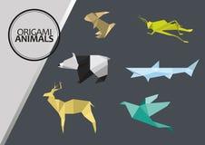 Origami djur vektor illustrationer