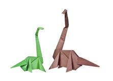 Origami. Document cijfers van dinosaurussen Royalty-vrije Stock Afbeeldingen