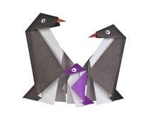 Origami. Document cijfers van pinguïnen Royalty-vrije Stock Fotografie