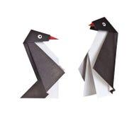 Origami. Document cijfers van pinguïnen Royalty-vrije Stock Afbeeldingen