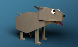 Origami dog Royalty Free Stock Photos